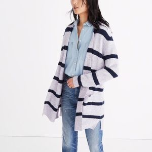 Madewell Kent Striped Cardigan